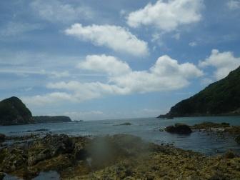 ラボ近くの海