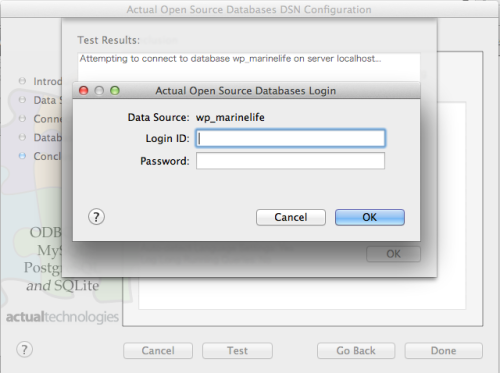 Actual Open Source DatabaseのDSN 設定7