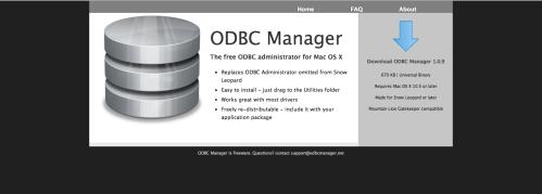 ODBC manager  ここからダウンロード