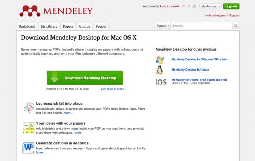 ローカル環境で使えるMendeley_Desktop