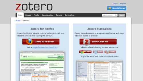 ローカル環境で使える Zotero 4.0 for Mac