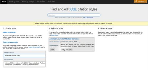 Citation Styleを編集する